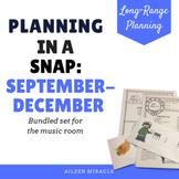 Music Lesson Overview {September-December Bundled Set}