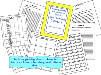 The Phantom Tollbooth: Planning sheets for a character sketch
