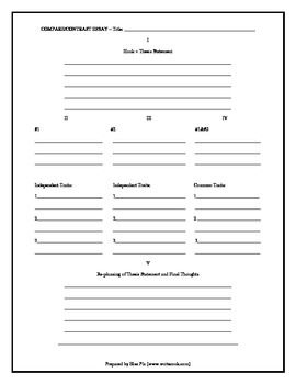 Planning the Five-Paragraph Essay (in black & white)