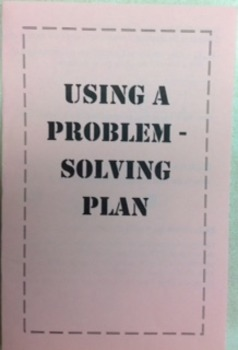Plans for Solving Problems Foldable