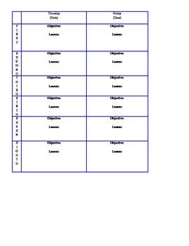 Plans template