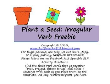 Plant A Seed Irregular Verb FREEBIE