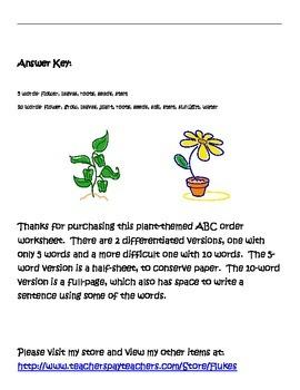 Plant ABC order