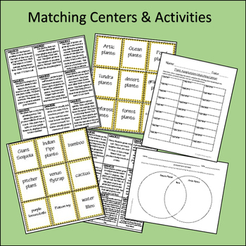 Plant Adaptations (Reading passage, matching game & research activities)