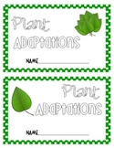 Plant Adaptations Booklet