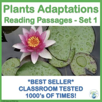 Plant Adaptations Informational Reading Passages and Activities