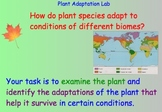Plant Adaptations - Lesson Plans, Presentations, Lab Experiment, Videos