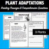 Plant Adaptations: Reading Passages and Comprehension Questions