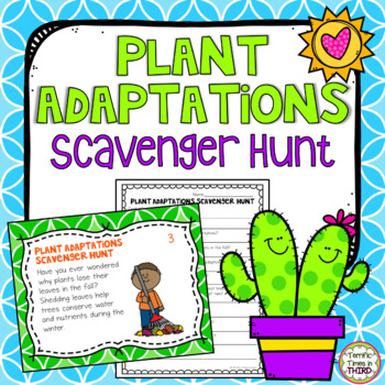 Plant Adaptations Scavenger Hunt
