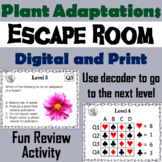 Plant Adaptations Activity: Escape Room - Science