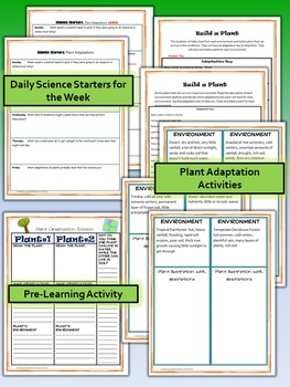 Plant Adaptations Science and Literacy Lesson Set (STAAR & NGSS)