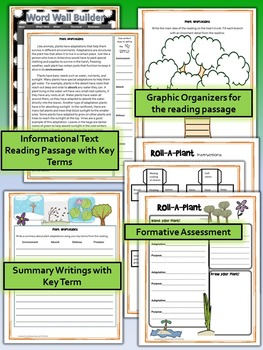 Plant Adaptations Science and Literacy Lesson Set (TEKS & NGSS)