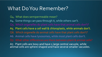 Plant & Animal Cell Parts & Organelles Animated PowerPoint