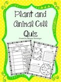 Plant & Animal Cell Quiz