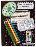 Plant Animal Cells coloring activity worksheet 6th 7th 8th high school