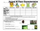 Plant & Animal Characteristics