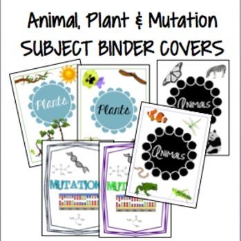 Plant, Animal and Mutations Subject Binder Covers {custom made}