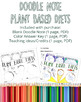 Plant Based Diets Doodle Note, Color Handout, Printable