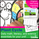 Plant Life Cycle Bundle - Song, Books, Math, Science and Reading