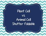 Plant Cell vs Animal Cell Shutter Foldable