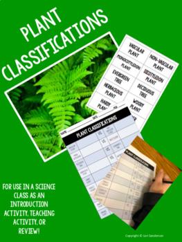 Plant Classification Activities