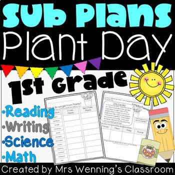 1st Grade Sub Plans - Plant Day!