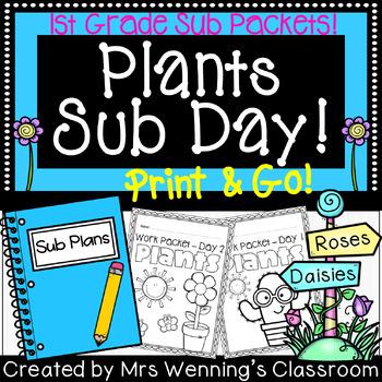 1st Grade Plant Themed Sub Plans (2 Days!)