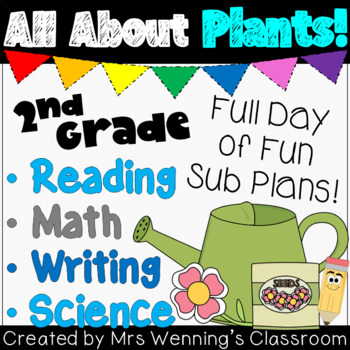 2nd Grade Sub Plans - Plants Day!