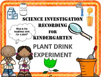 Plant Drinks Science Experiment Recording Sheet Pack