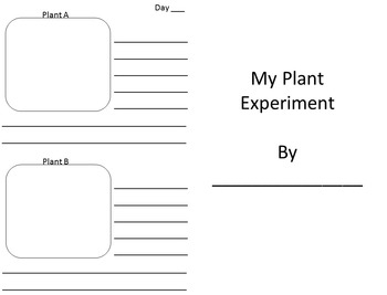 Plant Experiment Observation Book