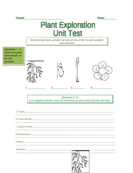 Plant Exploration Assessment