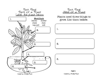 Plant Fact and Growth Journal (Observational Science Journal)
