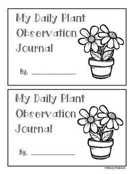 Plant Growth Observation Book