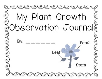 Plant Growth Observation Journal for Celery, Corn, and Sweet Potato