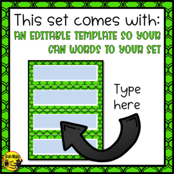Plant Growth & Changes Word Wall Words- Editable