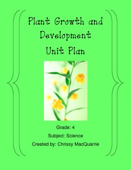 Plant Growth and Development Webquest (Includes website access)