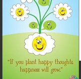 Plant Happy Seeds Poster 11x17 or 8.5x11