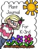 Plant Activity ~ Plant Journal for Grades K-3