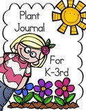 Plant Activity ~ Plant Journal for Grades K-3