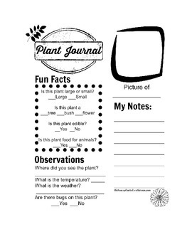 Plant Journal Page