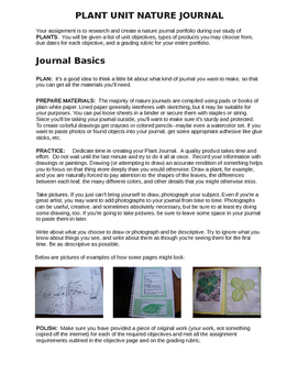 Plant Journal Project