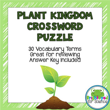 Plant Kingdom Crossword Puzzle