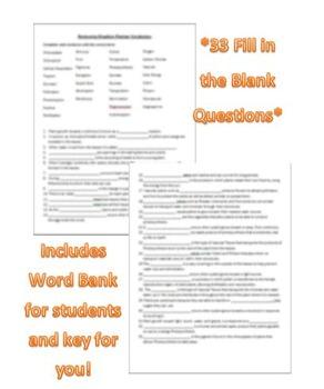 Plant Kingdom Vocabulary Review Worksheet or Quiz (Fully Editable, Key, No Prep)