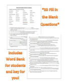 Plant Kingdom Vocabulary Review Worksheet or Quiz (Fully E