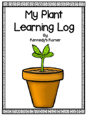 Plant  ~ Learning Log ~ Writing Journal