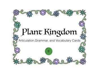 Plant Life Articulation, Grammar, and Vocabulary Game