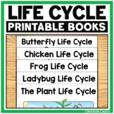 Life Cycle Books: Butterfly, Chicken, Frog, Ladybug, and Plant