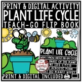 Digital Parts of Plant Life Cycle Writing Prompt, Spring Activities Flip Book