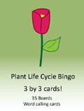 Plant Life Cycle 3 by 3 BINGO!