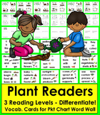 Plant Life Cycle Differentiated Readers - 3 Levels + Illus